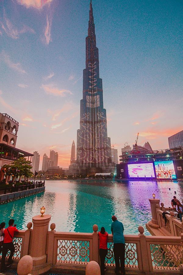 burj khalifa sunset
